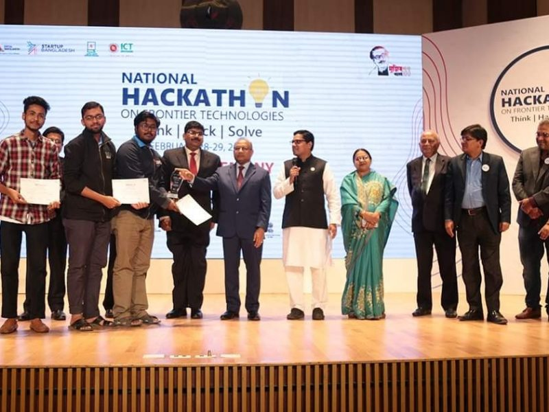 Champion - National Hackathon on Frontier Technologies 2020